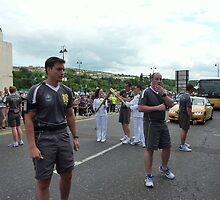 The Arrival Of The Olympic Torch by Fara