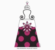 The Katy Bag / Pink Peppermint Polka Dot Parfait by Susan R. Wacker