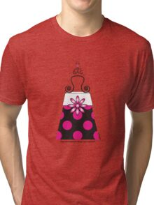 The Katy Bag / Pink Peppermint Polka Dot Parfait Tri-blend T-Shirt