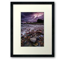 Hutt River Storm Torment Framed Print