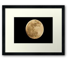 First Sunday in June Moon Framed Print