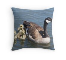 Mother Goose and Family Throw Pillow