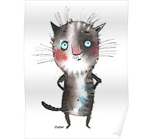 The deep thinking cat by ozozo Poster