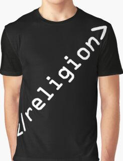 End Religion IT geek HTML (white design) Graphic T-Shirt