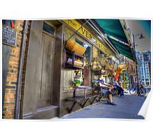Traditional shop front Spittlafields London HDR Poster