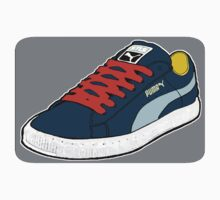 PUMA SE: NAVY BLUE W/ ORANGE LACES (TRI-COLOR) by SOL  SKETCHES™