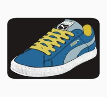 PUMA SE: NAVY BLUE W/ GOLD LACES (TRI-COLOR) by S DOT SLAUGHTER