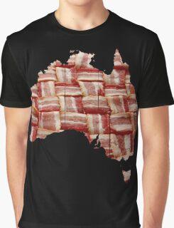Australia - Australian Bacon Map - Woven Strips Graphic T-Shirt