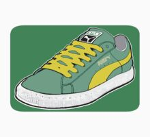 PUMA SE: LIGHT GREEN W/ YELLOW LACES by SOL  SKETCHES™