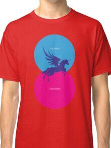Pegacorn Venn Diagram (Pegasus + Unicorn) Classic T-Shirt