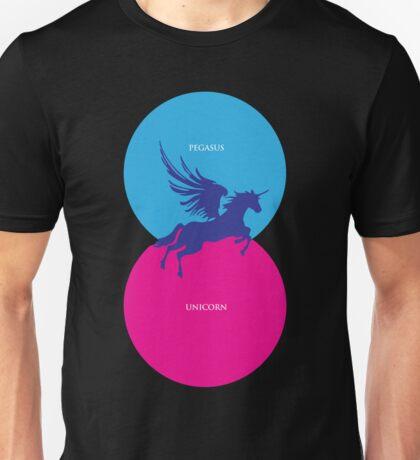 Pegacorn Venn Diagram (Pegasus + Unicorn) Unisex T-Shirt