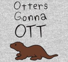 Otters Gonna Ott One Piece - Long Sleeve