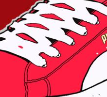 PUMA SE: RED W/ WHITE LACES Sticker