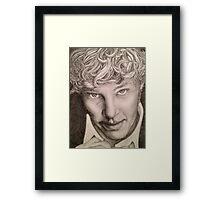 Benedict Cumberbatch sketch Framed Print