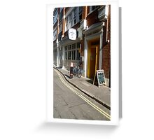 A London road view Greeting Card