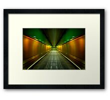 Underground Heathrow Framed Print