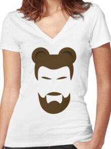 BEARMAN 3 Women's Fitted V-Neck T-Shirt