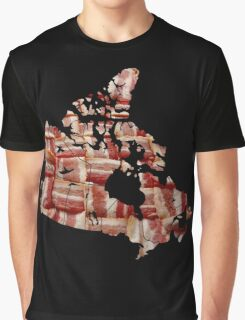 Canada - Canadian Bacon Map - Woven Strips Graphic T-Shirt