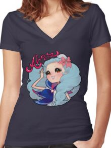 ahoy Women's Fitted V-Neck T-Shirt