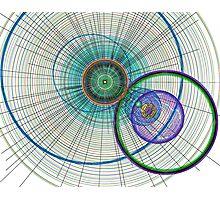 Abstract Circle art Photographic Print
