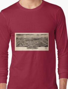 Panoramic Maps Bernville Pennsylvania Long Sleeve T-Shirt