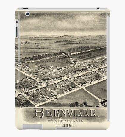 Panoramic Maps Bernville Pennsylvania iPad Case/Skin