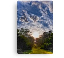 Sunset Alley Canvas Print