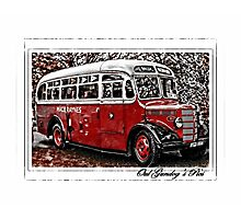Macbraynes Oul Bus Photographic Print