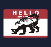 Hello My Name Is Honey Badger sticker One Piece - Short Sleeve
