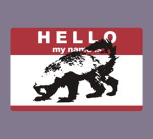 Hello My Name Is Honey Badger sticker Kids Clothes