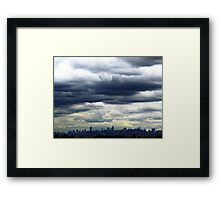 Cloudy in New York City Framed Print