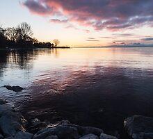 A Great Meditation Spot - Lake Ontario Cove in the Morning by Georgia Mizuleva