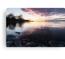 A Great Meditation Spot - Lake Ontario Cove in the Morning Canvas Print