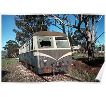 58 MT with broken windscreen Huon railway station siding 19830603 0026 Poster