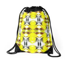 Yellow Twist Drawstring Bag