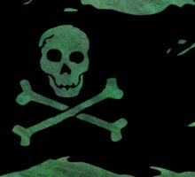 Pirate flag 50 by Chandra Nyleen Sticker