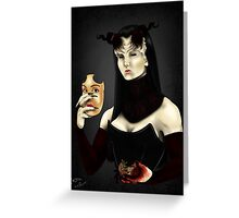 The Mask and the Heart Greeting Card