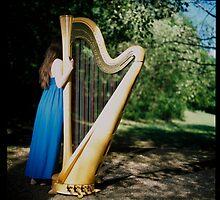 a harp girl by maticki