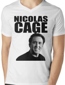 Nicolas Cage Mens V-Neck T-Shirt