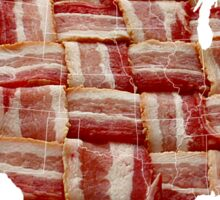 USA - American Bacon Map - Woven Strips Sticker