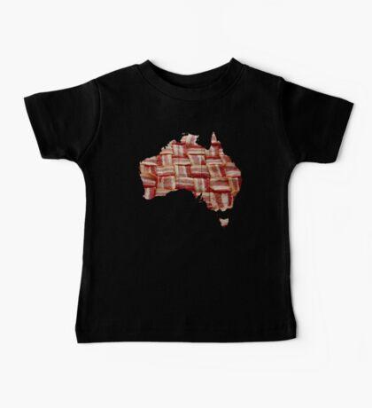 Australia - Australian Bacon Map - Woven Strips Baby Tee