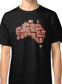 Australia - Australian Bacon Map - Woven Strips Classic T-Shirt