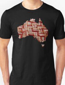 Australia - Australian Bacon Map - Woven Strips T-Shirt