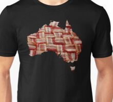 Australia - Australian Bacon Map - Woven Strips Unisex T-Shirt