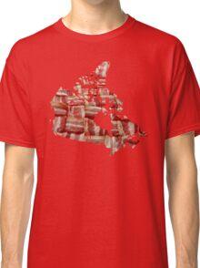 Canada - Canadian Bacon Map - Woven Strips Classic T-Shirt