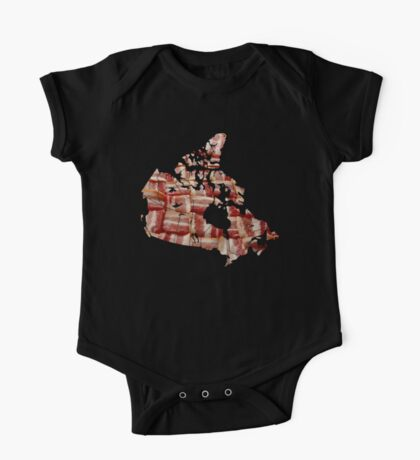 Canada - Canadian Bacon Map - Woven Strips One Piece - Short Sleeve