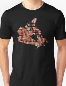 Canada - Canadian Bacon Map - Woven Strips T-Shirt