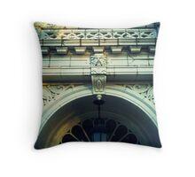 Face of the Facade Throw Pillow