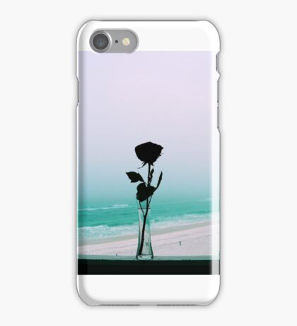 Silhouette of a Rose, Part One iPhone Case/Skin