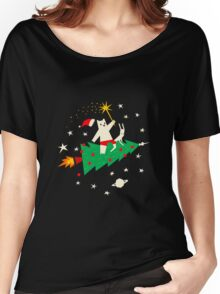 Space Christmas Women's Relaxed Fit T-Shirt
